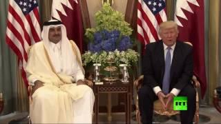 لقاء دونالد ترامب بأمير قطر تميم بن حمد بن خليفة آل ثاني في الرياض