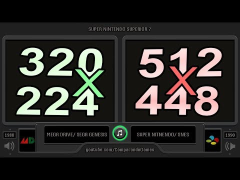 Super Nintendo Superior ? (Sega Genesis vs SNES) Side by Side Comparison thumbnail