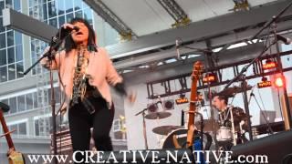 BUFFY SAINTE-MARIE - CHO CHO FIRE LIVE @ YONGE DUNDAS SQUARE 2012