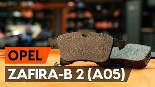 Kā nomainīt priekšējās bremžu kluči / bremžu uzlikas OPEL ZAFIRA-B 2 (A05) [AUTODOC VIDEOPAMĀCĪBA]