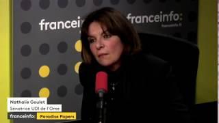 """Nathalie Goulet à propos des """"Paradise Papers"""""""