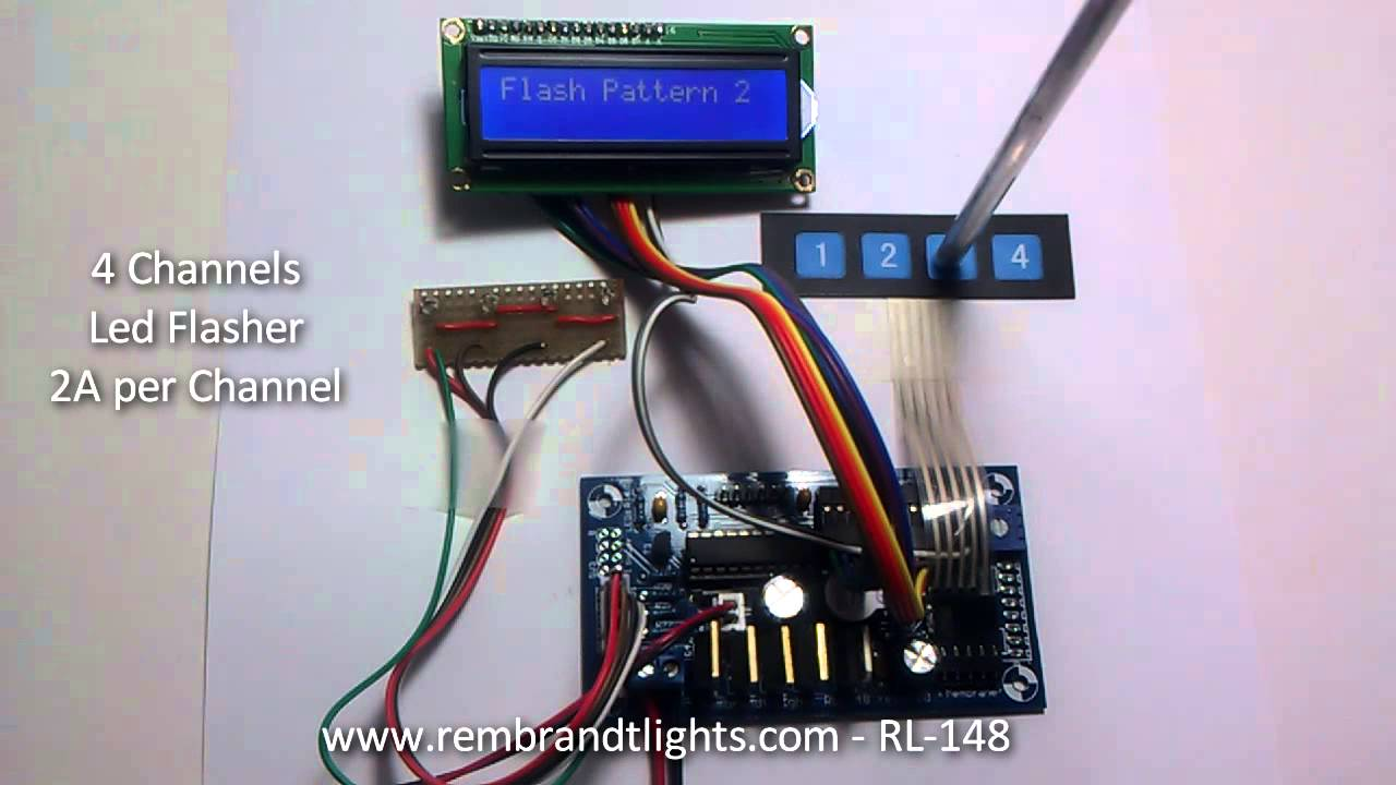 RL-148 - High Power 4 Channel LED Flasher PIC16F690