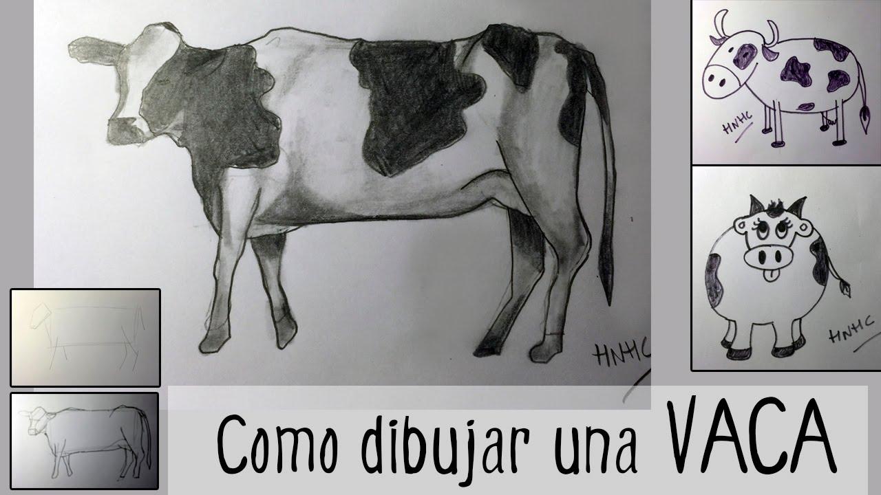 Cmo dibujar una vaca tres modelos diferentes  YouTube