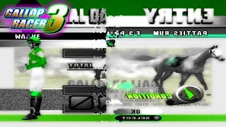 Gallop Racer 2000 Gameplay Walkthrough Horse Racing Games For PS1 With Commentary Part 1