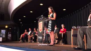 Joyce Anne Koubaroulis acceptance speech in Ursinus College Hall of Fame for Athletics.