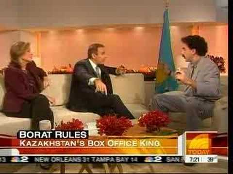 Borat On NBC The TODAY Show - YouTube