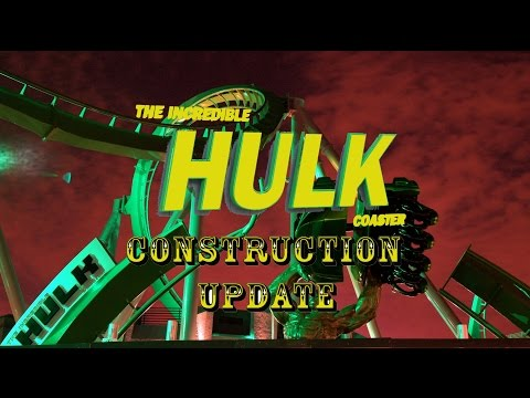 Universal Orlando Resort Construction Update 7.16.16 More Hulk Tests / Toothsome / Fallon Work