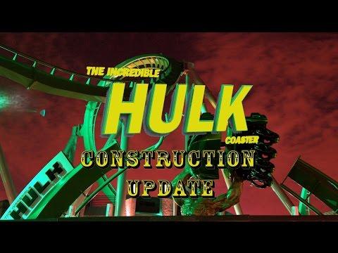 Universal Orlando Resort Construction Update 7.16.16 More Hulk Tests / Toothsome / Fallon Work