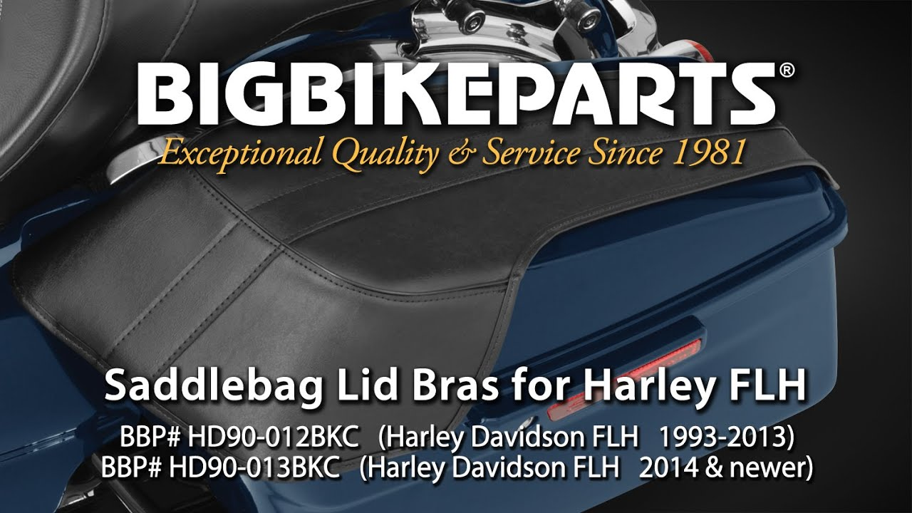 saddlebag lid bras for harley davidson flh youtube