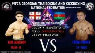 RAUL MAMEDOV Fighter.-ROUND 2 -Professional Fight K-1.Georgian Golden Glove Sport Club -29.09.2015-