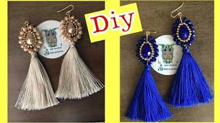 Trending Handmade Silk Thread Tassel Earrings Diy
