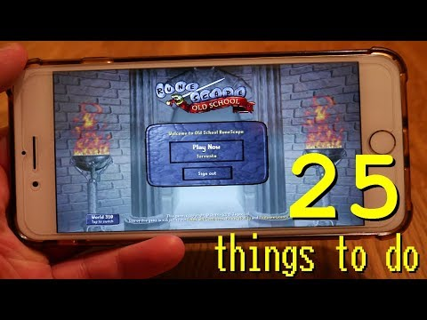 25 things to do on OSRS Mobile