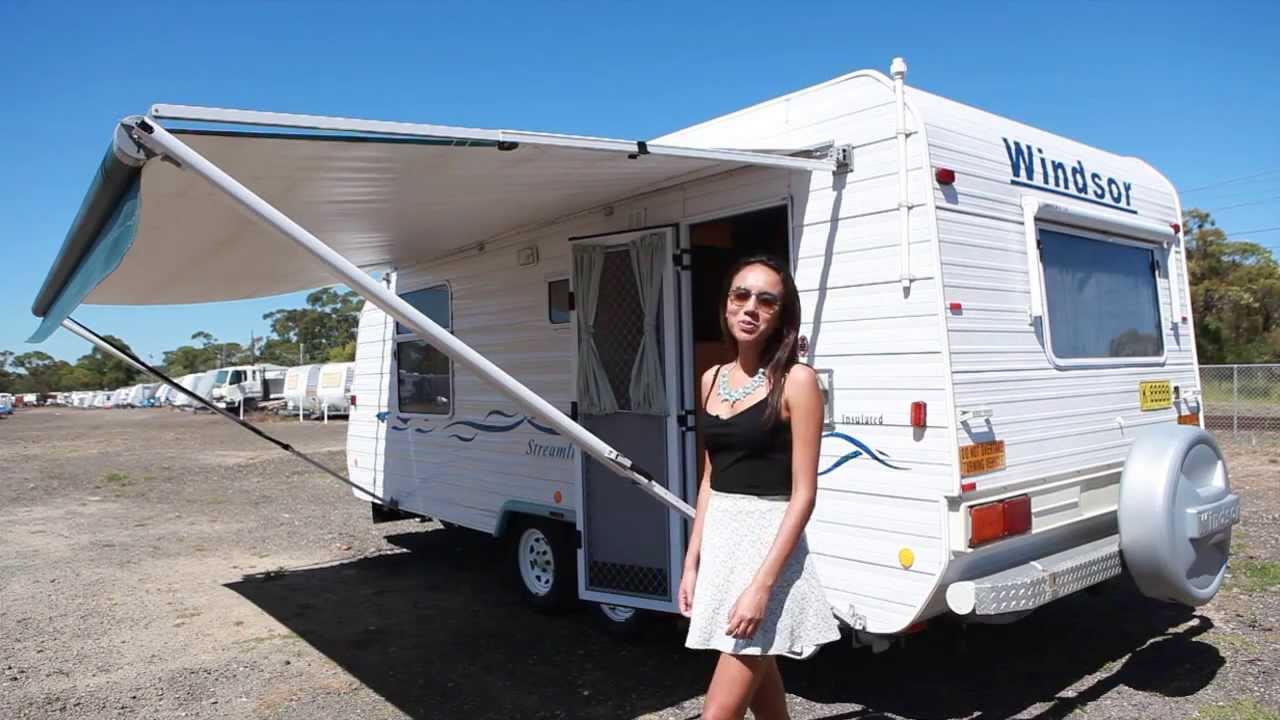 2004 windsor family bunk caravan for sale at used trailer world youtube. Black Bedroom Furniture Sets. Home Design Ideas