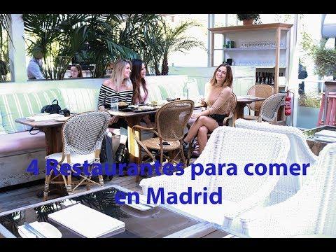 4 Restaurantes para comer en Madrid