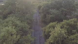 Abandoned Railroad Cinematic Drone video