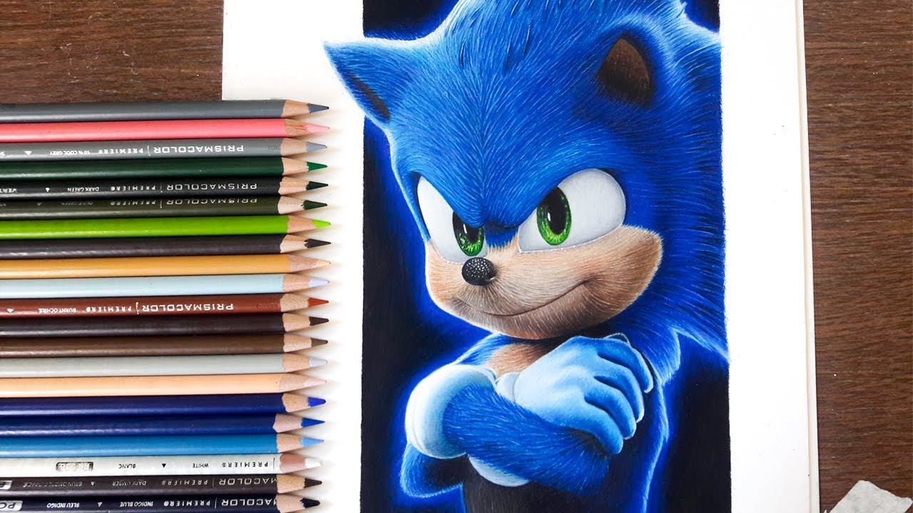 Drawing Sonic The Hedgehog Movie 2020 Youtube