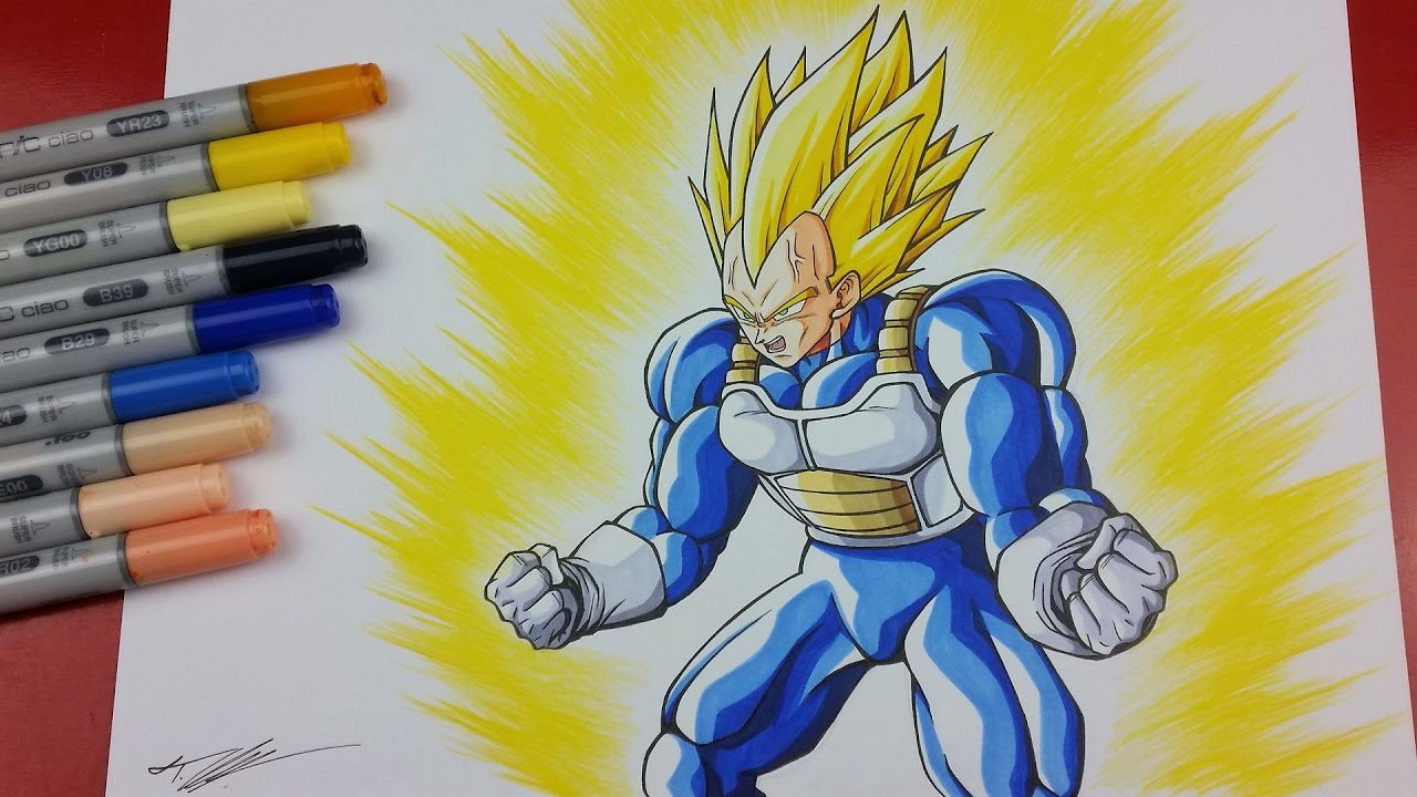 Vegeta And Trunks Drawing