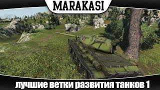 World of Tanks лучшие ветки развития танков #1