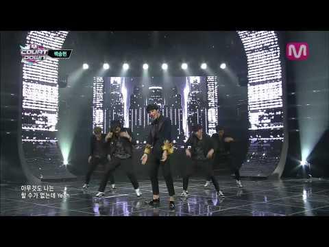 백승헌_Wait a minute (Wait a minute by Baek seung Heon@Mcountdown 2013.11.14)