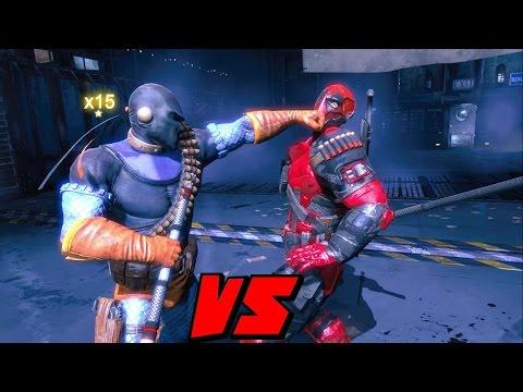 Batman Arkham Origins Deadpool VS Deathstroke Mod