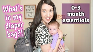WHAT'S IN MY DIAPER BAG | 0-3 MONTHS | Erika Ann