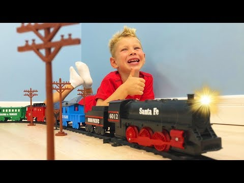 TRAINS and RAILWAY BABY buy new TOY for kids LOCOMOTIVE short films PLAYING WITH TOYS
