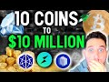 10 COINS TO $10 MILLION! Top coins to GET RICH in January