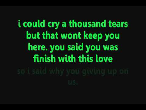 Chris Brown Last Time Together Lyrics On Screen