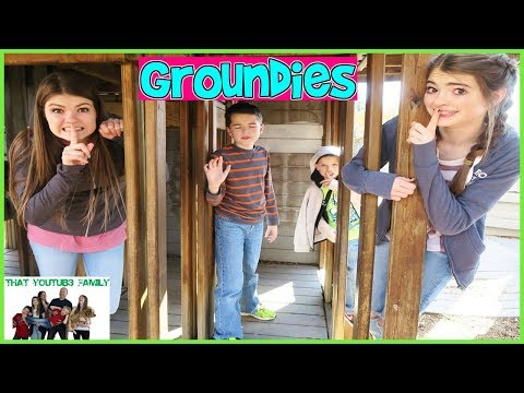 GROUNDIES On A CASTLE Playground - PLAYGROUND WARS / That YouTub3 Family