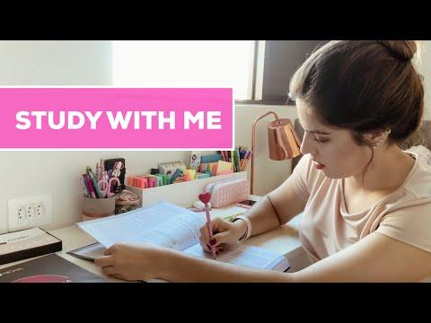 STUDY WITH ME: 40 MINUTOS DE ESTUDO COMIGO! | Julia Pabis