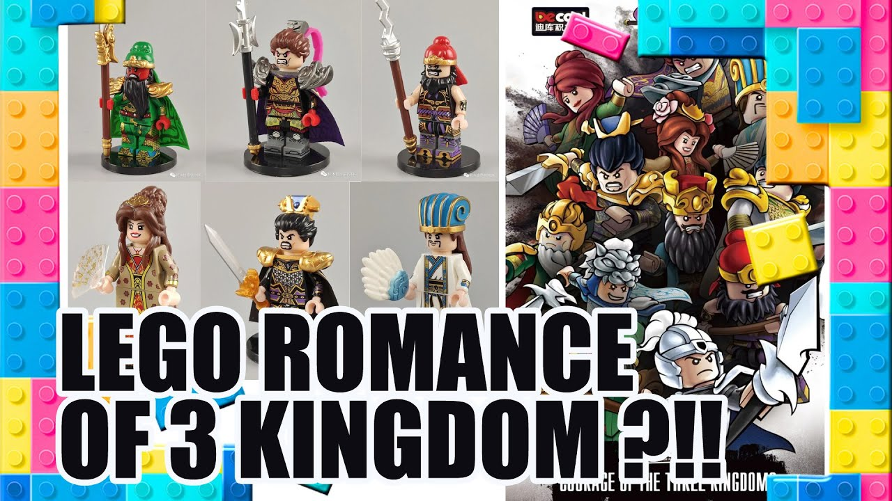 Courage of the Three Kingdoms Minifigures by Decool | Unofficial Lego [PREVIEW]