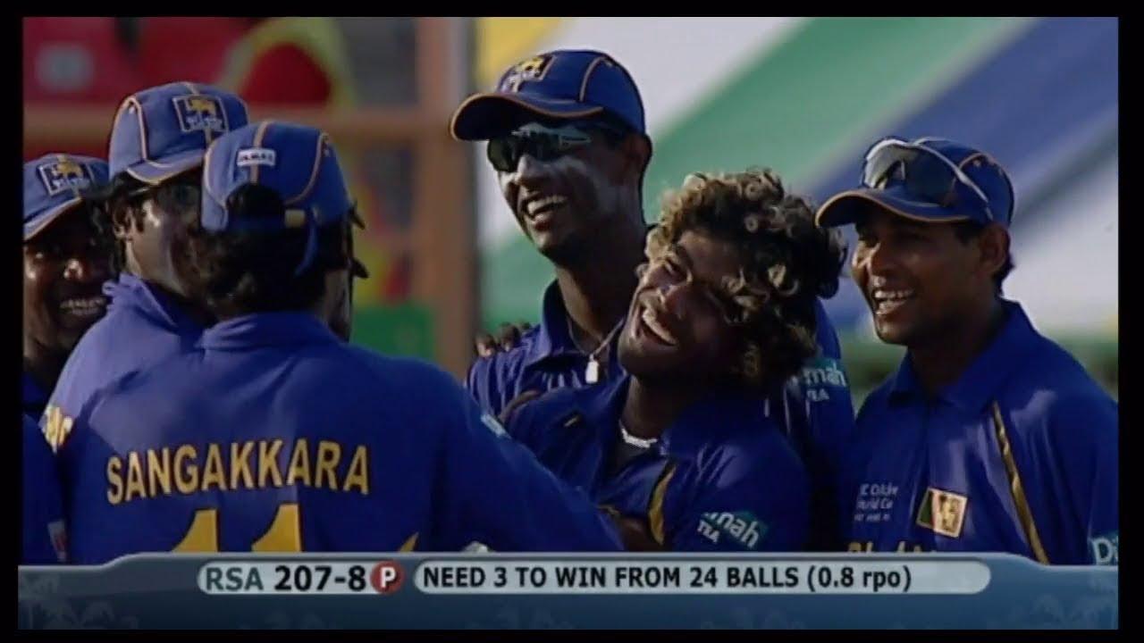South Africa Vs Sri Lanka Cricket World Cup 2007 Malinga 4 Wickets In 4 Balls Rare