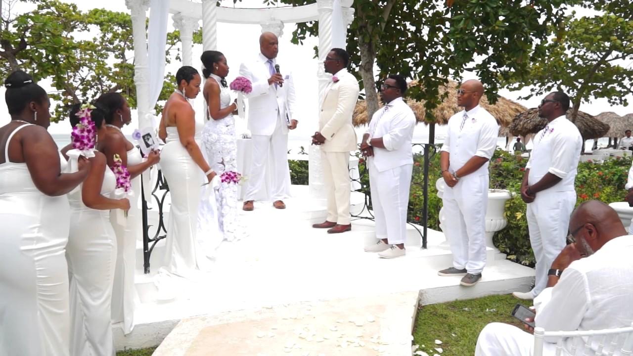 Mcintyre Wedding Video Beaches Negril All White Summer Destination