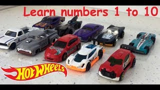 Learn to count numbers 1 to 10 with HOT WHEELS Car Models