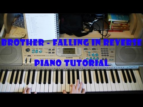 Brother - Falling in Reverse EASY Piano Tutorial