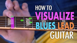 How to visual chords to play blues lead changes. Easier than you think!