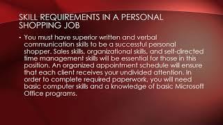 Personal Shopper Job Description