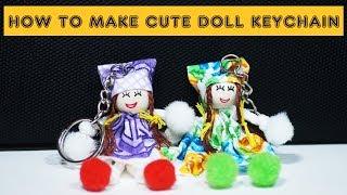 How to make cute  doll keychain