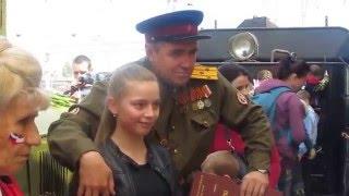 Паровоз ПОБЕДЫ прибыл в Симферополь 13 апреля 2016(Паровоз серии