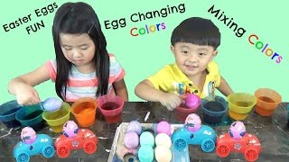 Easter Eggs Dyeing and Fun with Finding Dory Egg Racers