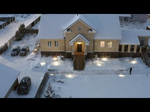 Dream House in Russia. What's it like in Winter?  Moonshine, Teddy Bears and Ice Swimming