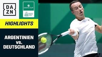 Gelungener Auftakt für Deutschland gegen Argentinien | Davis Cup Finals | DAZN Highlights