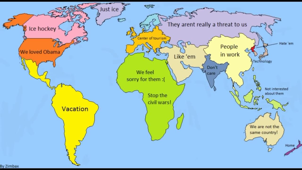 Random World Map.World According To Random Countries 6 Youtube