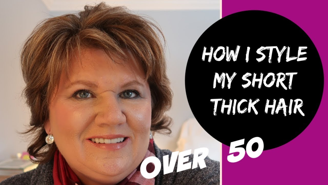 Short Haircuts Over 50 How I Style My Short Hair Very Easy 2020 Youtube