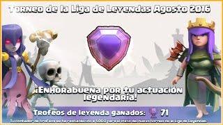 MIS PRIMEROS TROFEOS LEYENDA!  5000🏆 Y SUBIENDO! - #APORLEYENDA 🏆🏆🏆  Clash of Clans - Español - CoC