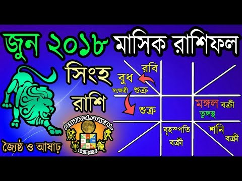 Leo June 2018 Monthly Horoscope In Bengali|Singh Rashi June 2018 Rashifal|Astrological Science
