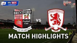 Brentford 0-1 Middlesbrough - Shortened Highlights