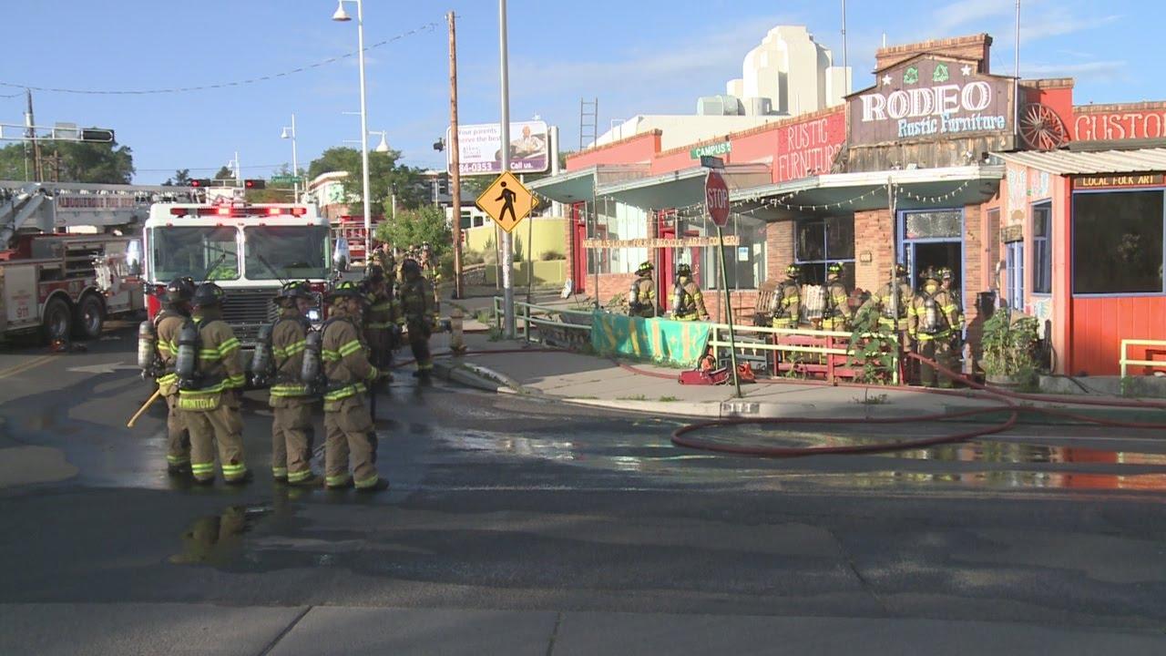 Firefighters Investigate Albuquerque Furniture Store Fire