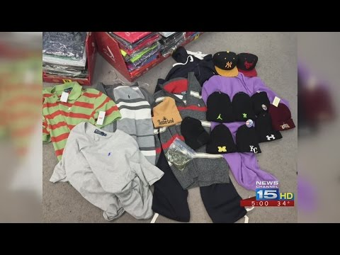 Gas stations found selling knockoff clothes, DVDs