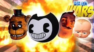 Minecraft Head Wars - GOOD Vs EVIL EDITION- BENDY FREDDY, HELLO NEIGHBOR & BOSS BABY Modded Gameplay
